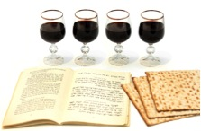 cups of wine matzah